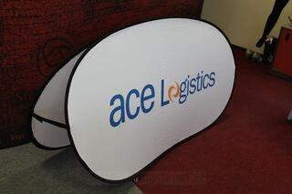 Soft banneri 200x100cm Ace Logistics