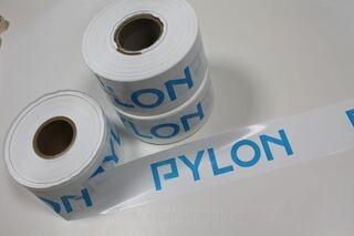 Varoitusnauha logolla Pylon