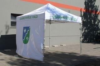 Popup teltta logolla