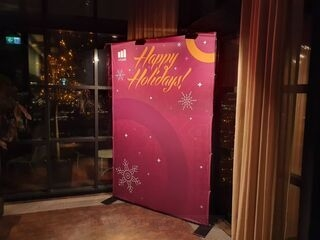 Photowall at Christmas party