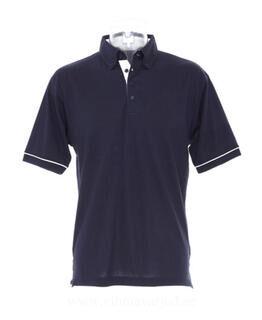 Contrast Button Down Collar Polo
