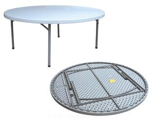 Foldable round table 180